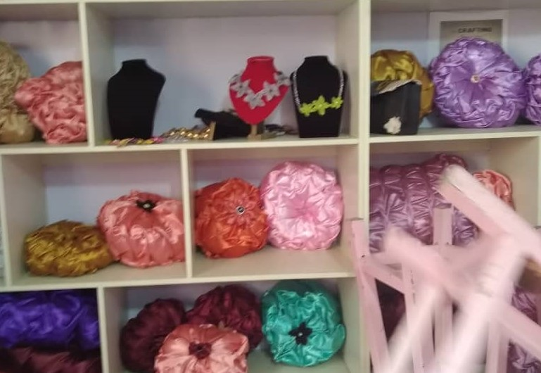 Throw pillows, earrings, and bracelets